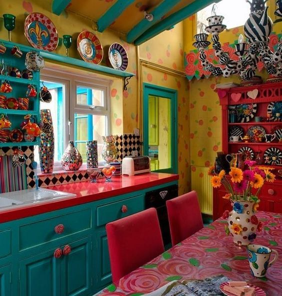 35 Colorful Boho Chic Kitchen Ideas to Decorate Your Room .