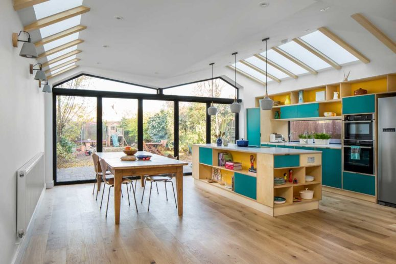 Colorful Contemporary Home With An Extension - DigsDi
