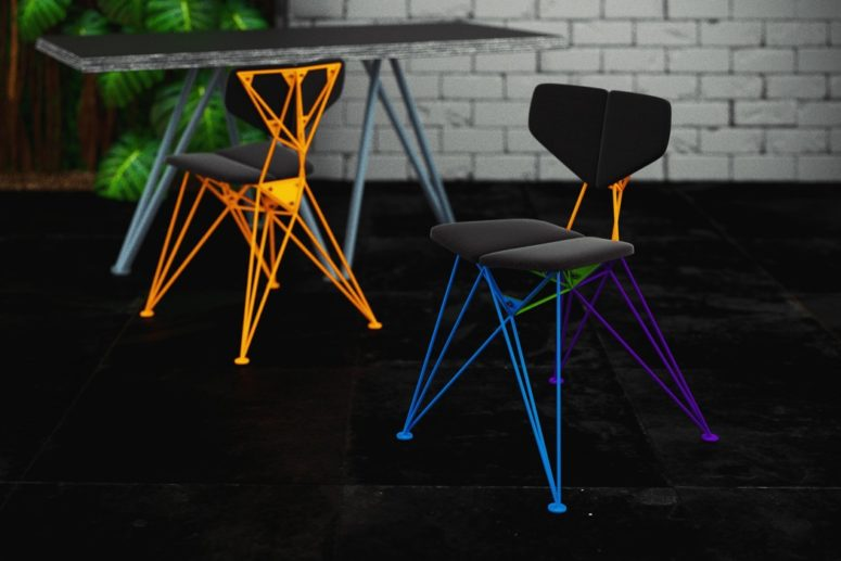 Colorful Geometric Star Chair For A Statement - DigsDi
