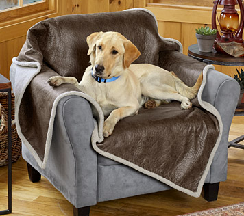 Faux Leather/Fleece Furniture Throw for Dogs - Orv
