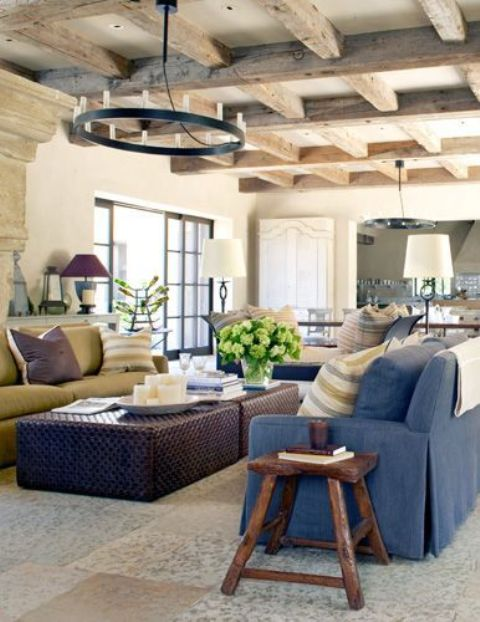 45 Comfy Farmhouse Living Room Designs To Steal - DigsDi
