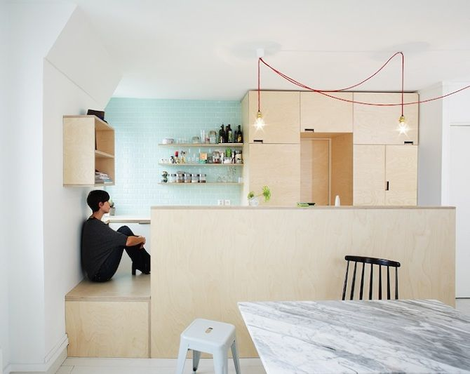 Kitchen of the Week: A Compact Family Kitchen in Paris   Plywood .