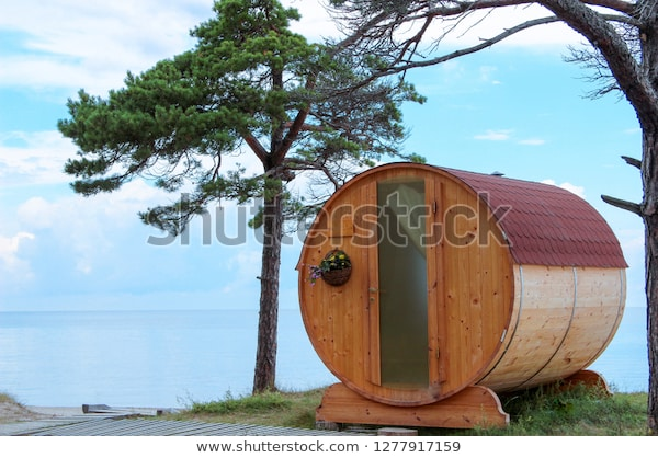 Personal Small Hotel Sauna Woods On Stock Photo (Edit Now) 12779171