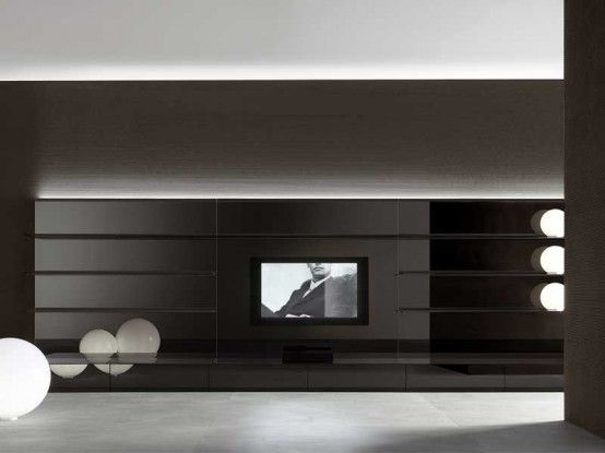 Completely White and Black Living Room Wall Panels - Abacus Living .