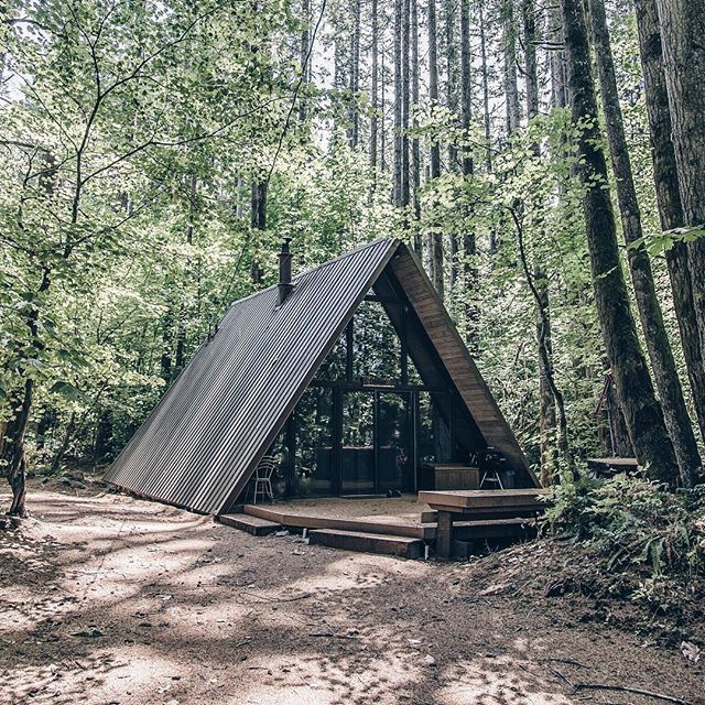 thefellowcollector | A frame house, A frame cabin, Architectu