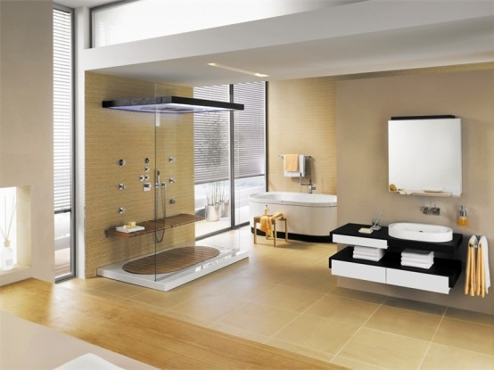 Contemporary Bathroom Set with Natural Touch - SensareMare from .