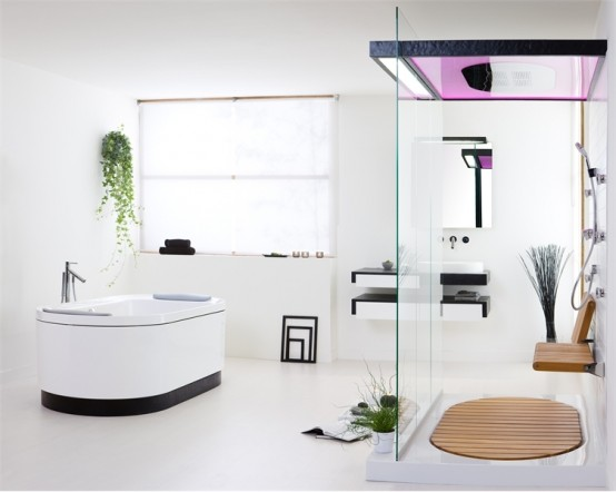 bedroom design simple: Contemporary Bathroom Set with Natural .