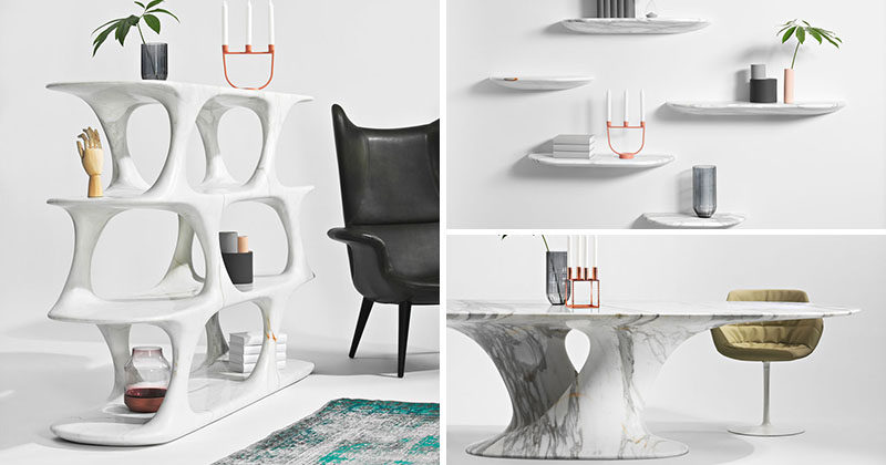 Rainer Mutsch Has Designed A Furniture Collection From Milled Marb