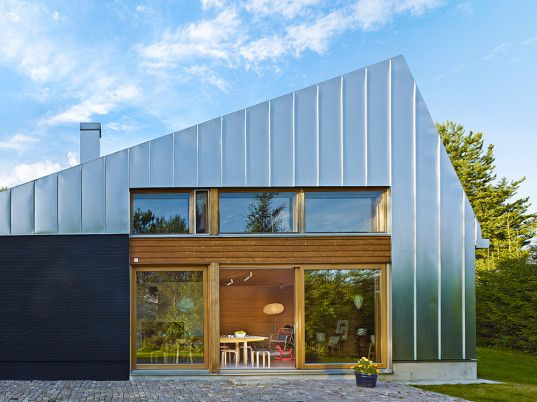 Metal-clad House L is a contemporary holiday retreat in Finland .