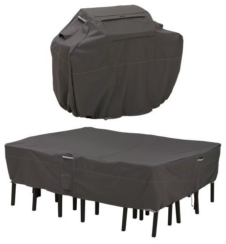 Classic Accessories Ravenna Grill Cover and Patio Table/Chair .