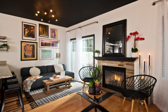 Modern Industrial Townhouse - Contemporary - Living Room - Other .
