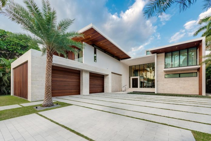 Tropical contemporary style combining modern design with warm .