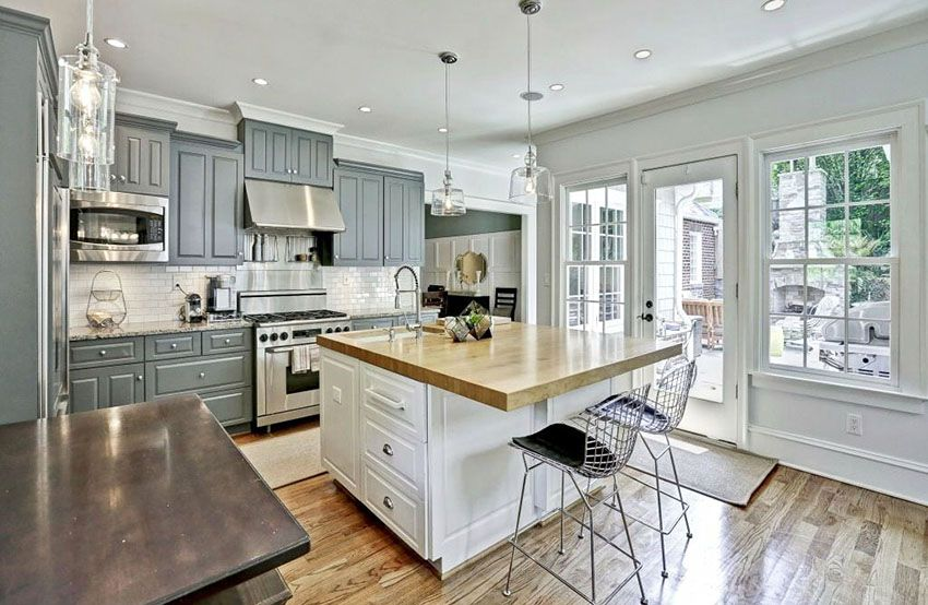 Gorgeous Contrasting Kitchen Island Ideas (Pictures) | Gray and .