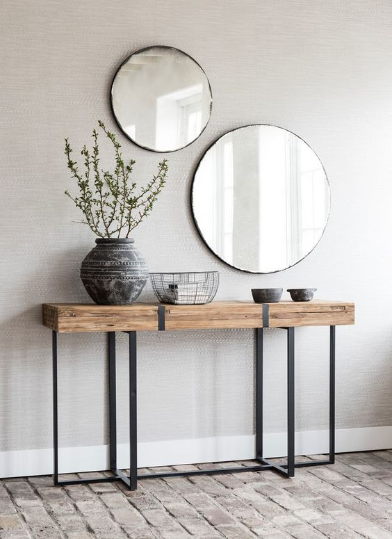 25 Edgy And Cool Mirrors For Your Entryway   Decorar entrada casa .