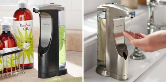 Cool Sensor Soap Pump for Kitchen and Bathroom by Simplehuman .