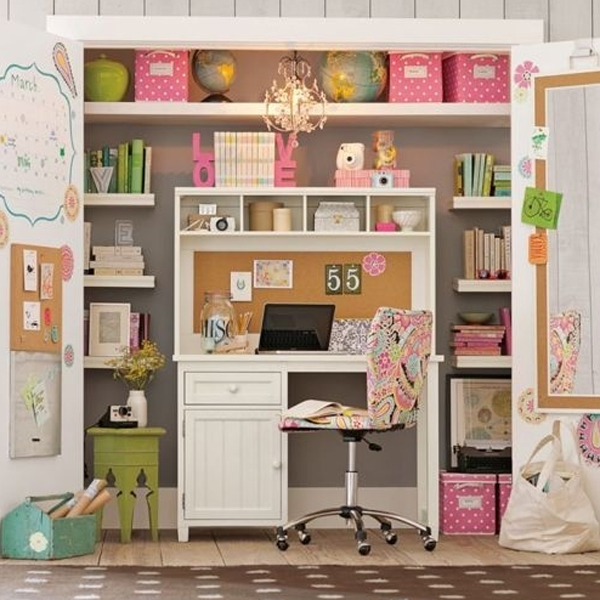 20 Cool and Stylish Home Office In A Closet Ideas | HomeMydesi