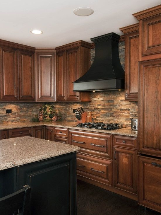 Picture Of cool stone kitchen backsplashes that wow 3 | Trendy .