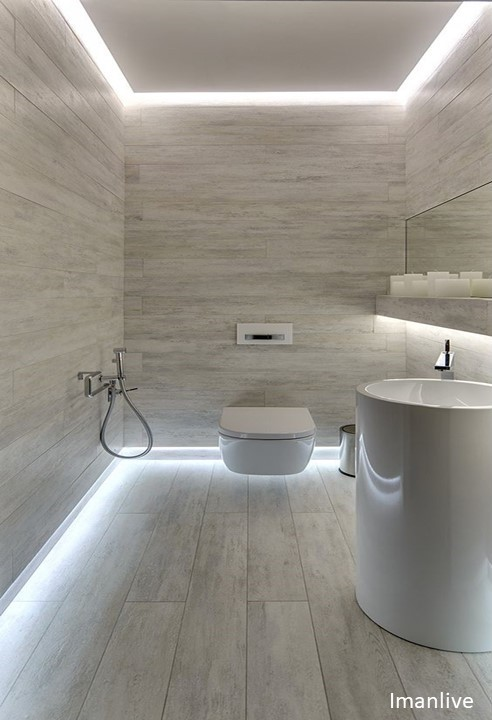 Wire2wire - cool white bathroom lighting - Wire2wi