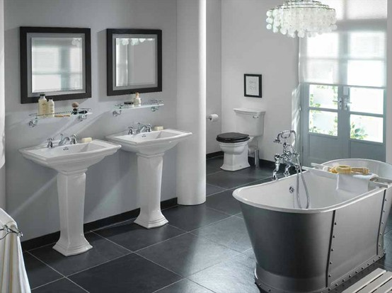 23 Creative&Inspiring Cool Traditional Black And White Bathrooms .