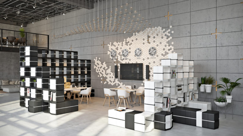 Grow Furniture Collection Customized Assembly Black And White .
