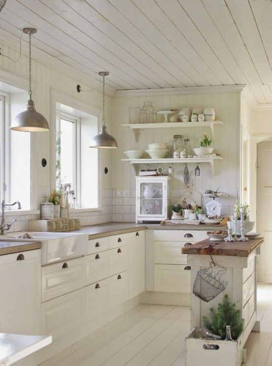 31 Cozy And Chic Farmhouse Kitchen Décor Ideas   DigsDigs .