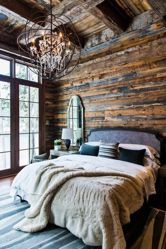 Warm and rustic spaces to inspire you to cozy up for winter .