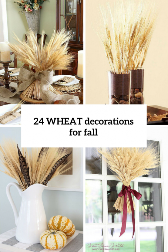 24 Warm and cozy for fall wheat ornamen