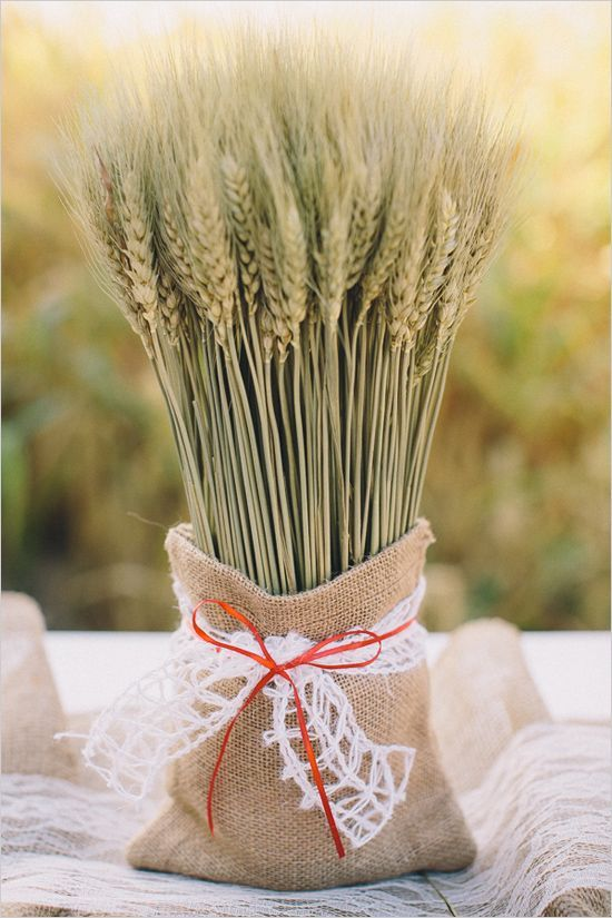 24 Warming And Cozy Wheat Decorations For Fall   Wheat wedding .