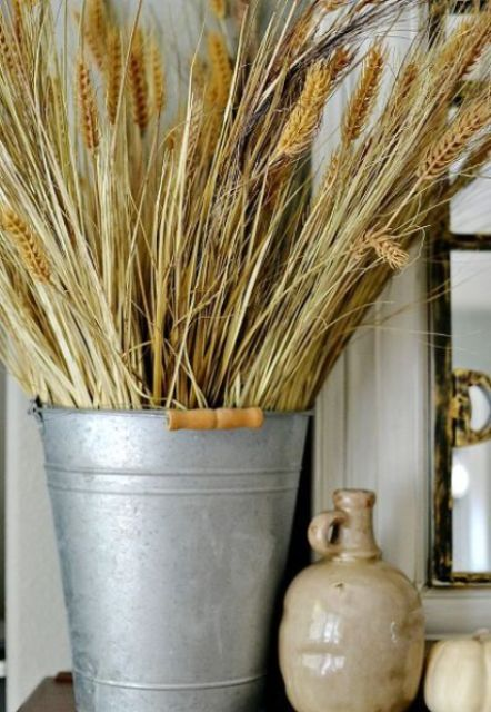 45 Warming And Cozy Wheat Decorations For Fall - DigsDi