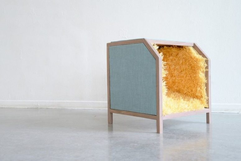 Creative Box Chair With Carpet For Your Feet - DigsDi