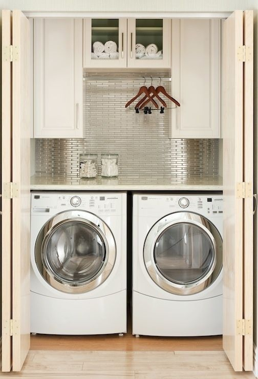 33 Home Laundry Spaces Cover | Laundry room inspiration, Small .