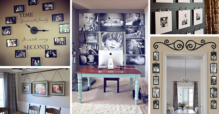 28 Creative Ways To Display Family Photos That You Never Consider