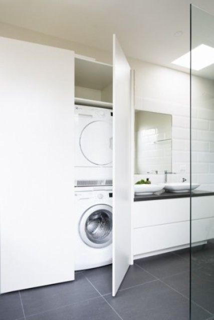 23 Creative Ways To Hide A Washing Machine In Your Home - DigsDigs .
