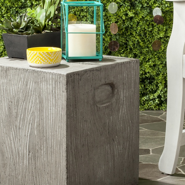 Safavieh Indoor/Outdoor Concrete Accent Tables | Group