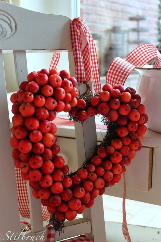Wreath for February or all winter for its cheer | Apple wreath .