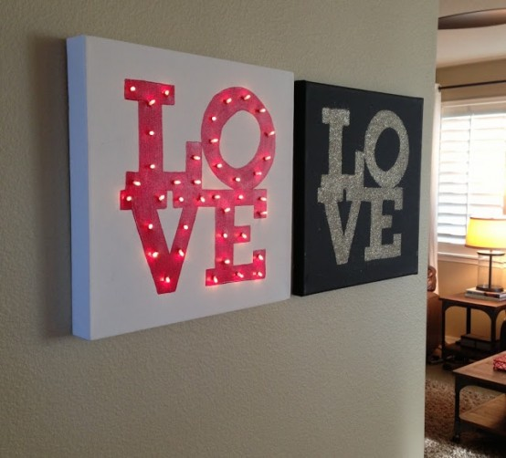 26 Cute Valentine's Day Marquee Ideas For Your Home - DigsDi