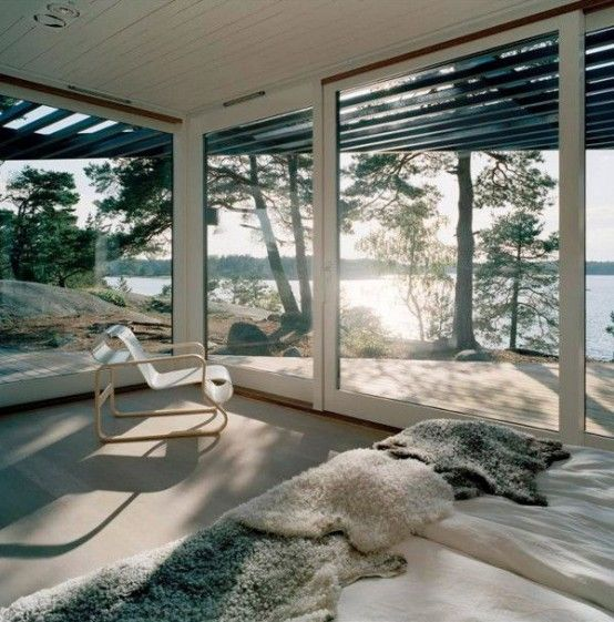 25 Daring Glass Bedroom Design Ideas   Architecture, Cottage homes .