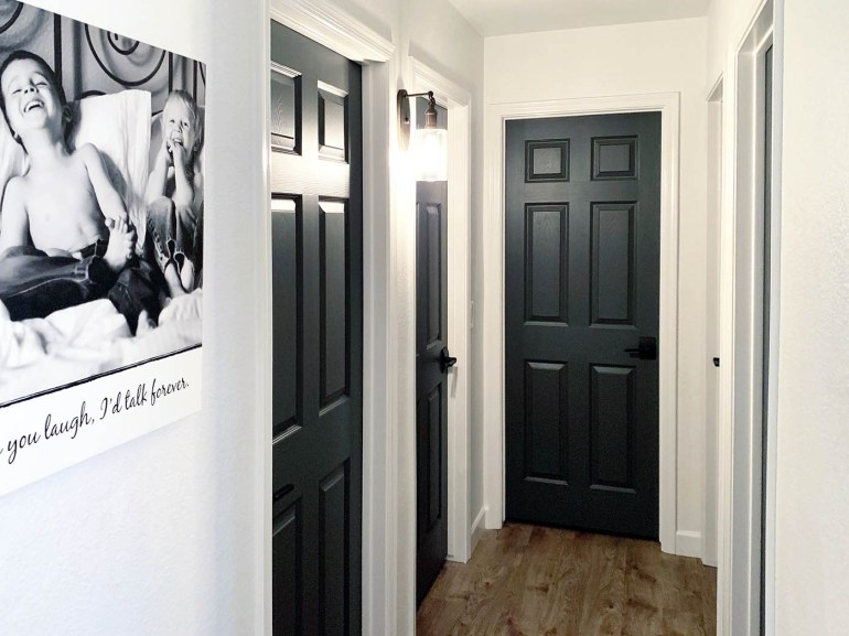Dark Gray Doors - How to Paint Your Own - All for the Memori