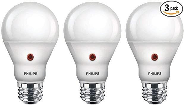 Philips LED Dusk-to-Dawn A19 Frosted Light Bulb: 800-Lumen, 2700 .
