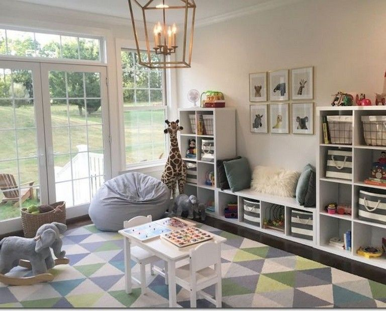 54+ Adorable Basement Playroom Decorating Ideas (With images .