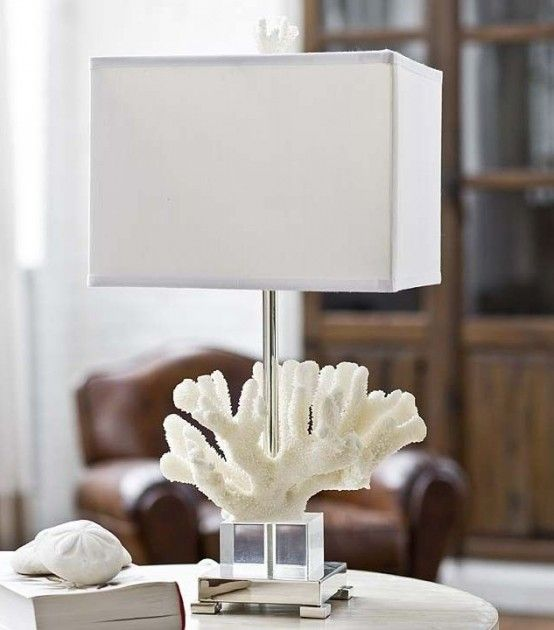 Decorating With Sea Corals: 34 Stylish Ideas   Coral lamp, Coral .