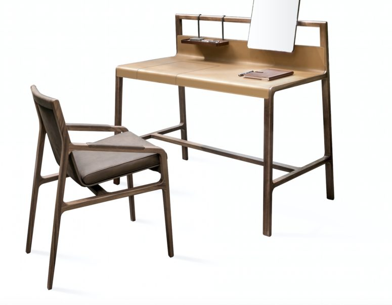 Luxurious Desk And Chair With A Retro Feel - DigsDi