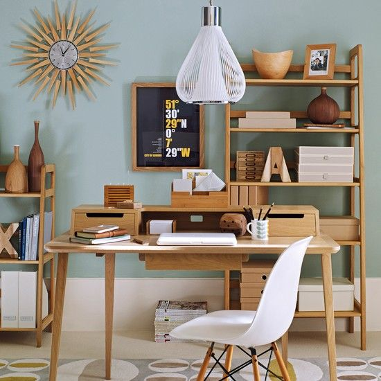 Retro home office   Wooden home office furniture   Ideal Home .