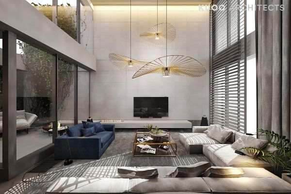 A Luxury Apartment with a Double Height Ceiling   Luxury living .