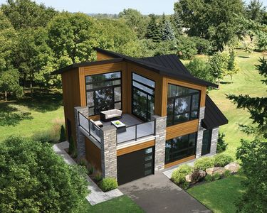 Plan 80878PM: Dramatic Contemporary with Second Floor Deck   House .
