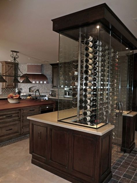 wine lovers kitchen...this would be a cool conversation piece in .