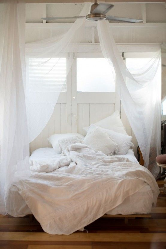 23 Dreamy And Practical Mosquito Nets For Your Bedroom   White .