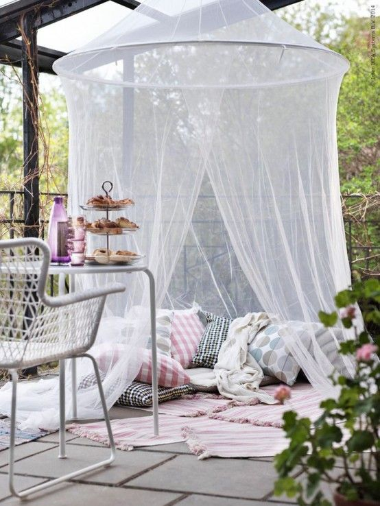 52 Cute And Practical Mosquito Net Decoration Ideas   Ikea garden .