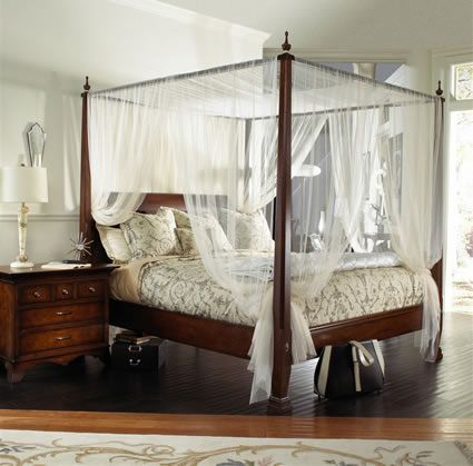 A little too elegant but the beauty of mosquito netting aroudn the .
