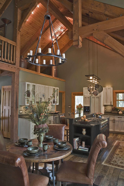 Luxury Timber Frame Mountain Home - Eclectic - Kitchen - Oth